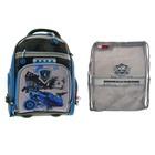 Рюкзак каркасный Across 180 33*26*13 + мешок для обуви, серый/синий