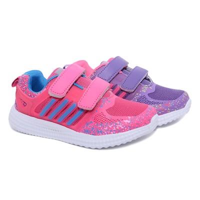 Кроссовки для девочки, 12 пар в коробе  7709A-S