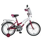 """Велосипед 16"""" Novatrack Зебра, 2016, цвет бордовый/белый"""