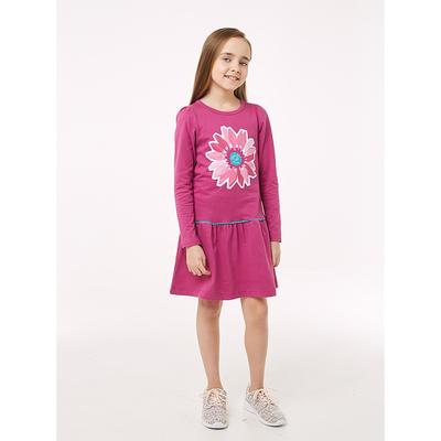 Платье детское, рост 110 см, цвет лиловый 208-028-00002