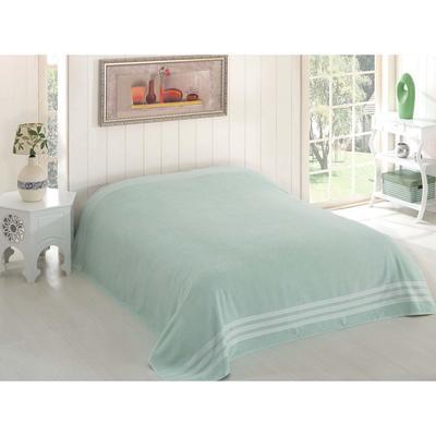 Простыня махровая Petek, размер 200х220 см, зелёный, 310 г/м2