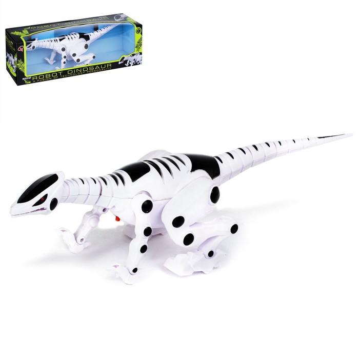 Динозавр-робот «Рекс», световые и звуковые эффекты, работает от батареек