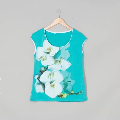 Блузка женская Белая орхидея цвет ментол, р-р 48