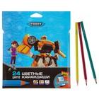 Карандаши 24 цвета Tobot, пластиковые