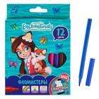 Фломастеры 12 цветов Mattel Enchantimals, вентилируемый колпачок