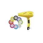 Фен Babyliss Luminoso Giallo BAB6350IYE, 2100 Вт, 6 режимов, ионизация, шнур 2.7 м, жёлтый