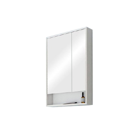 Зеркало-шкаф «Рико 65», цвет белый ясень фабрик