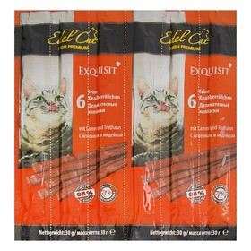 Лакомство Edel Cat для кошек, колбаски, ягненок, индейка, 6 шт, 40 г