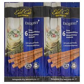 Лакомство Edel Cat для кошек, колбаски, лосось, форель, 6 шт, 40 г