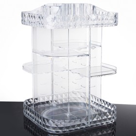 Акриловый органайзер для косметики Diamond, вращающийся