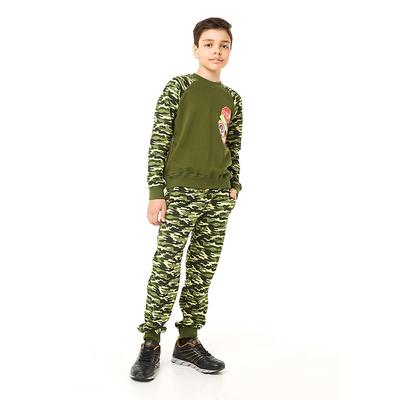 Брюки для мальчика, рост 140 см, цвет камуфляж