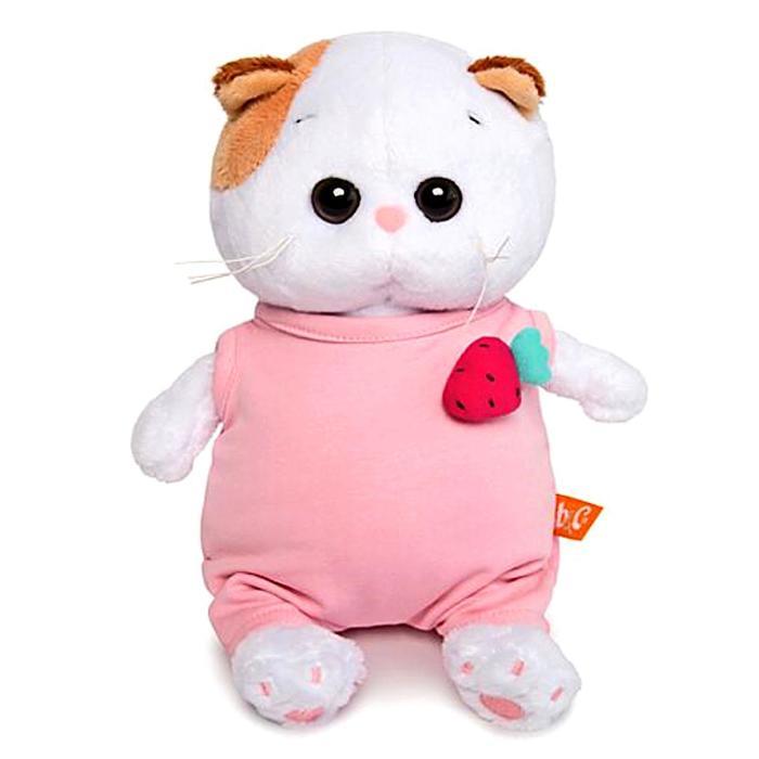 Мягкая игрушка «Ли-Ли BABY», в розовом комбинезоне с клубничкой, 20 см - фото 728303321