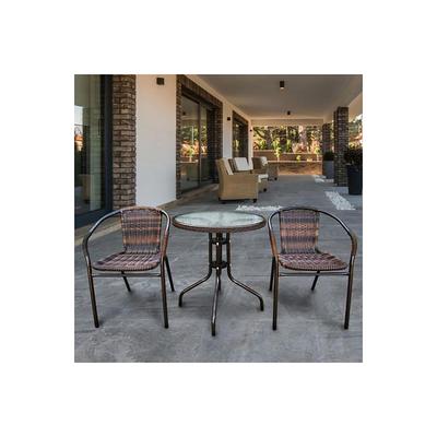 Комплект мебели Асоль-1B TLH-037B/087B-D-60 Brown (2+1)