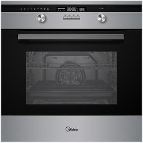 Духовой шкаф Midea MO 781E4 CX, электрический, 70 л, 9 режимов, черный/серебристый