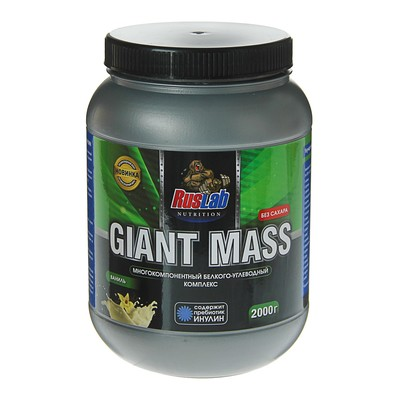 Гейнер RusLabNutrition Giant Mass 30% (2000г), ваниль
