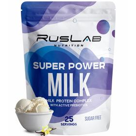 Протеин RusLabNutrition Super Power Milk, 800 г, ваниль
