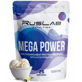 Протеин RusLabNutrition Mega Power (800г), ваниль
