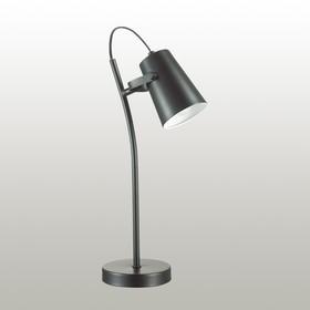 Настольная лампа MIKU 1x40Вт E14 чёрный 20x12x45см