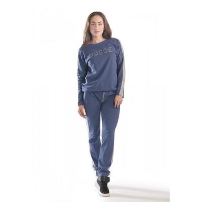 Комплект женский HUGGE, размер 54, цвет синий КК1204