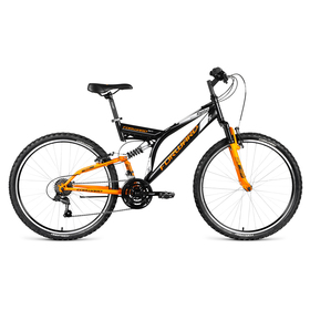 """Велосипед 26"""" Forward Raptor 1.0, 2018, цвет черный/желтый матовый, размер 16''"""
