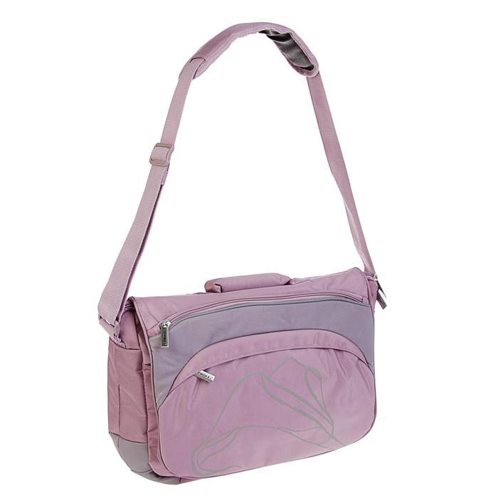 Папка деловая текстильная Proff Enjoy Elegant с плечевым ремнем, В4, 120 мм, 350*300 мм, розовая