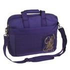 Папка деловая текстильная Proff Enjoy Fantasy с плечевым ремнем, В4, 120 мм, 350*300 мм, фиолетовая