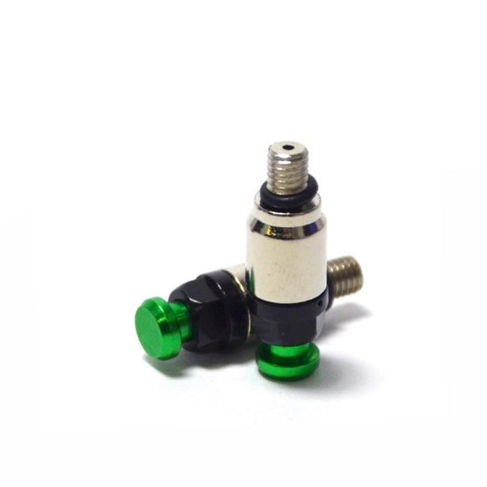 Воздушный клапан вилки JMC, M5 x 0.75, зеленый, набор 2 шт