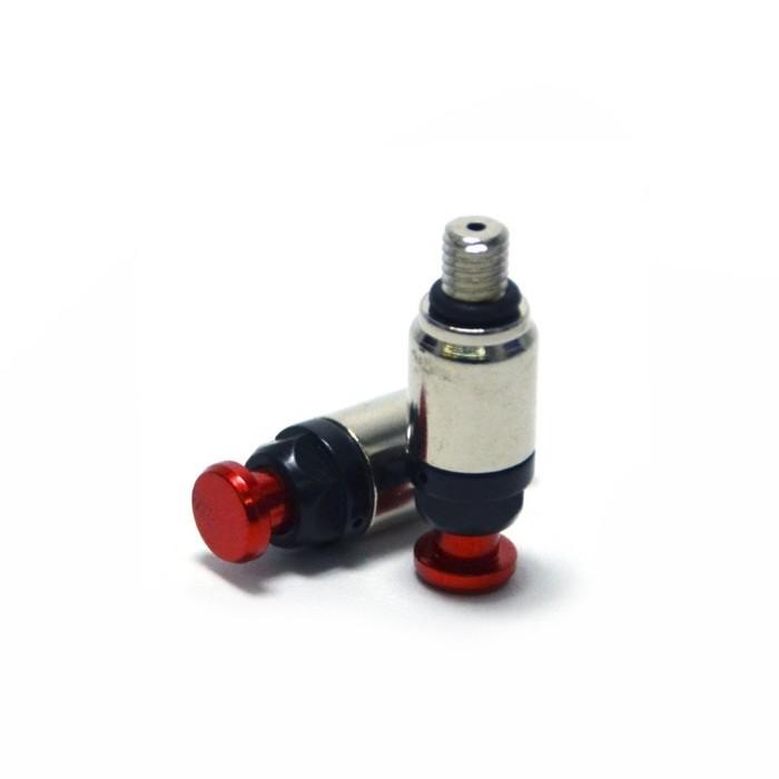 Воздушный клапан вилки JMC, M5 x 0.75, красный, набор 2 шт