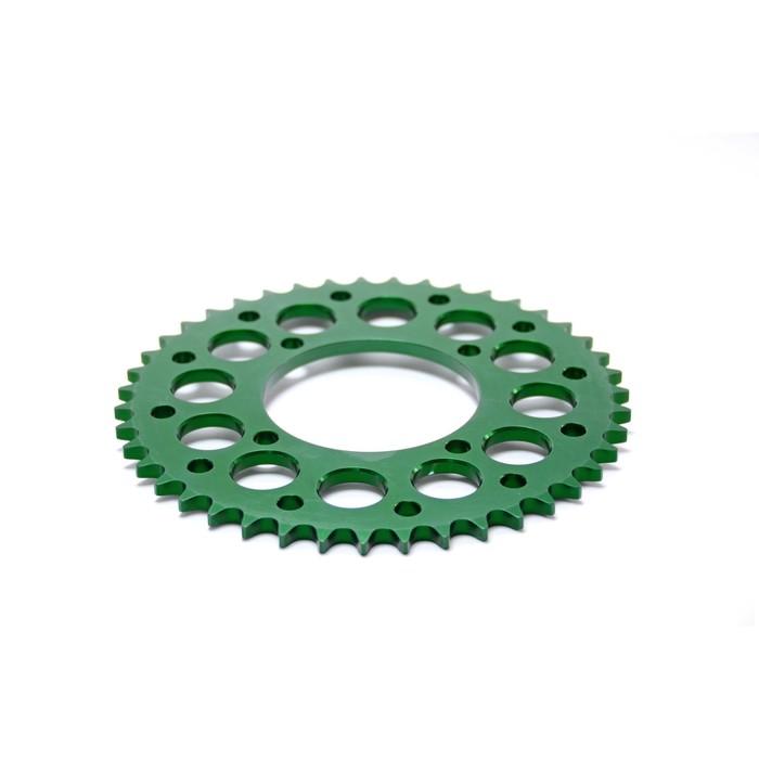 Звезда ведомая, JMC, CNC 420, зеленая, 43Т