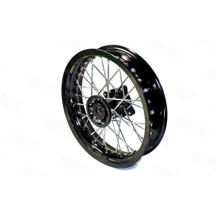 Обод колеса, JMC, усиленный, дорожный 2,15-12, передний, DOT 7116, алюминий, в сборе