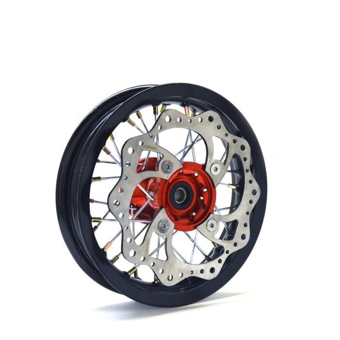 Обод колеса, JMC, усиленный, кросс 1,4х12, передний, ступица CNC, DOT 7116, алюминий,в сборе   36452
