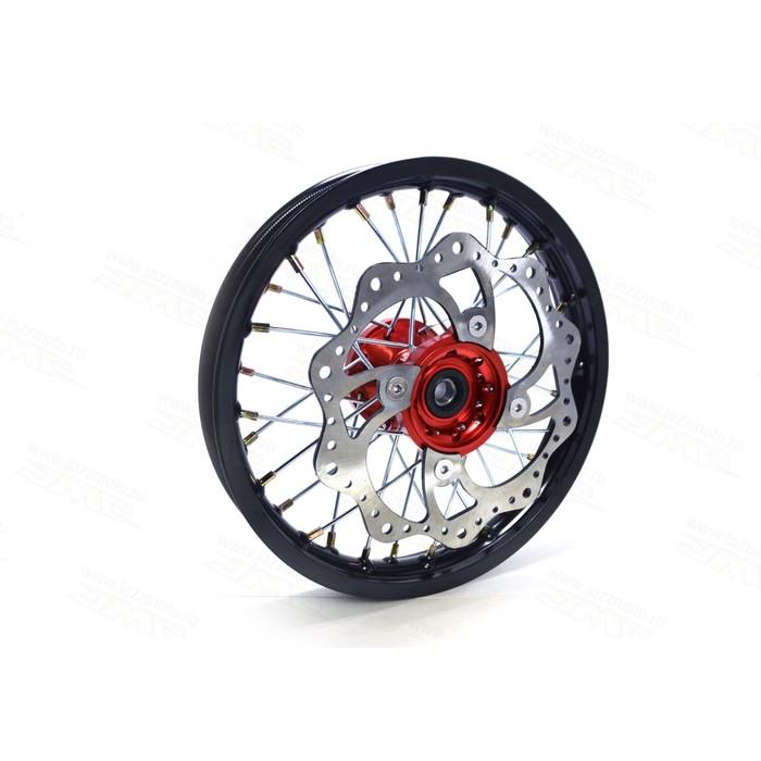 Обод колеса, JMC, усиленный, кросс 1,6х17, передний, ступица CNC, DOT 7116, алюминий,в сборе   36452
