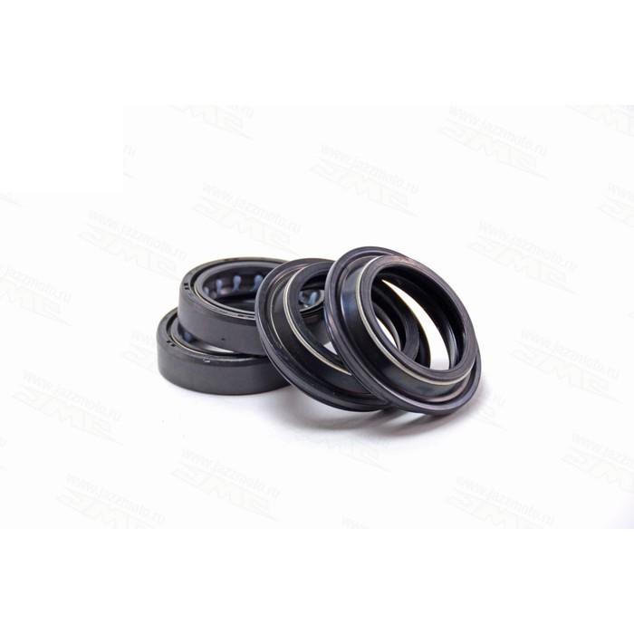 Ремкомплект регулируемой вилки, JMC, сальники 2 шт + пыльники 2 шт, 33х46 мм