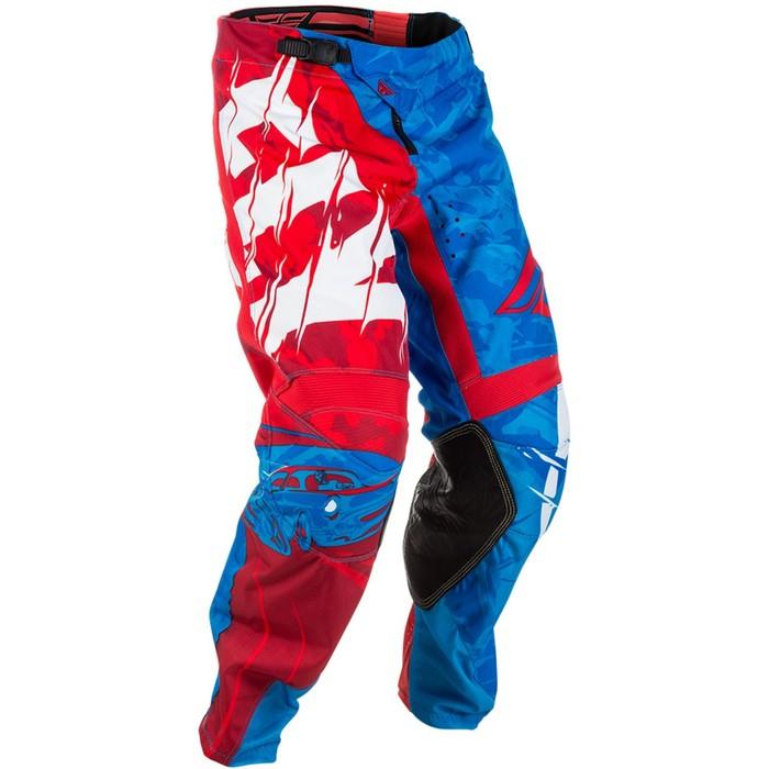 Штаны FLY RACING KINETIC OUTLAW, красно/синий, размер 34