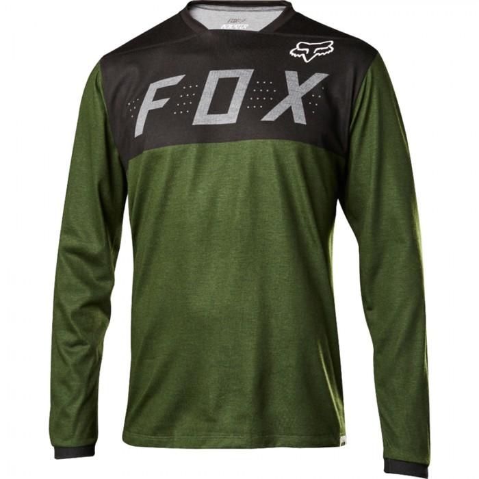 Джерси FOX lndicator LS, черно/зеленый, размер L