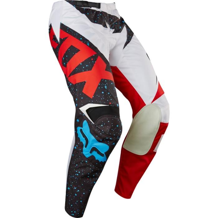 Штаны FOX 180 Nirv, красно-белые, размер 32