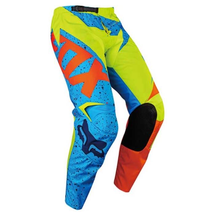 Штаны FOX 180 Nirv, желто-синие, размер 28