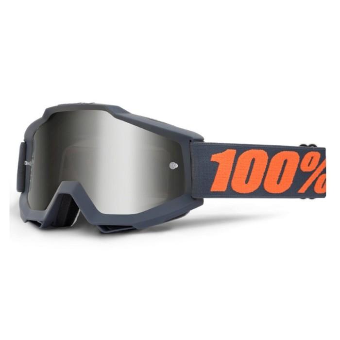 Очки кросс 100% Accuri Sand Gunmetal, серый