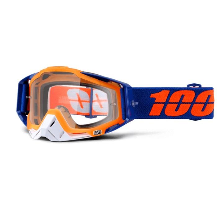 Очки кросс 100% Racecraft Derestricted, прозрачная линза