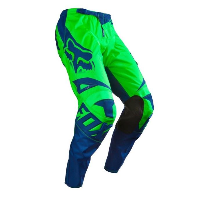 Штаны FOX 180 Race flow, зеленые, размер 32