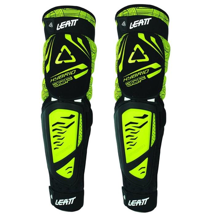 Наколенники Leatt 3DF Knee & Shin Guard Hubrid EXT, черно/желтый, размер S/M