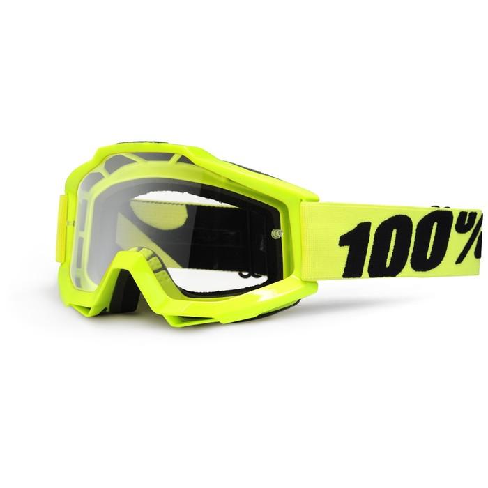 Очки кросс 100% Accuri Forecast Fluo, прозрачная линза, желтый