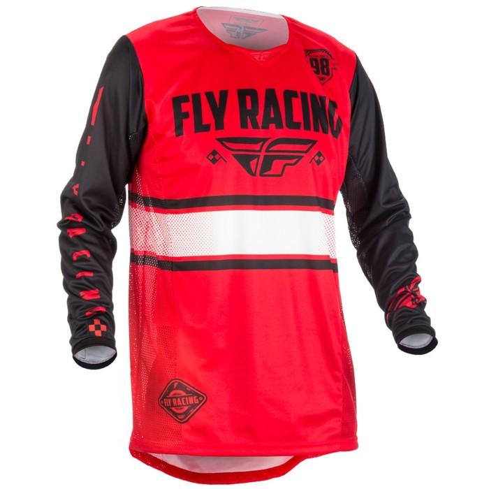 Джерси FLY RACING KINETIC ERA, размер L, черно-красный