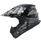 Шлем кросс MT Helmets Synchrony Native, черно/серый, размер L