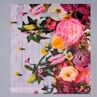 """Пакет """"Нежные цветы"""", полиэтиленовый с вырубной ручкой, 38 х 45 см, 45 мкм"""