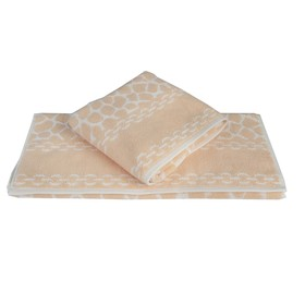 Полотенце Marble, размер 50 × 90 см, персиковый