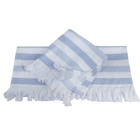 Полотенце Stripe, размер 70 × 140 см, голубой