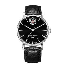 Часы наручные мужские ММ, чёрный циферблат, чёрный ремешок, 1128A1L5