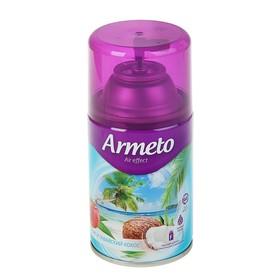 """Освежитель воздуха Armeto """"Персик и гавайский кокос"""", сменный балон, 250 мл"""