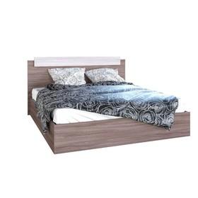Кровать двуспальная, 1600х850х2000, Ясень шимо светлый/Ясень шимо темный